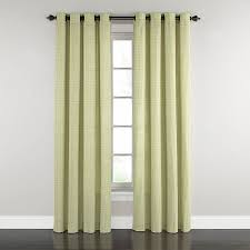 Single Window Curtain by Shop Waverly Grantham Plaid 84 In Celery Cotton Grommet Single