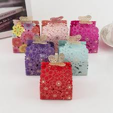 butterfly favor boxes laser cut butterfly favor box hollow paper chocolate candy boxes