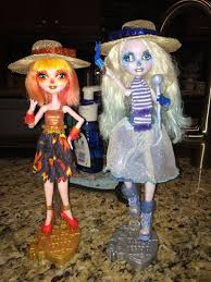 heat miser and snow miser girls i made for my mom for christmas
