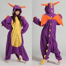 royal purple spyro character kigurumi onesie