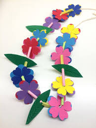 craft for kids hawaiian lei u0026 grass crown