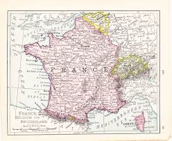 Orleans France Map by 1908 Map France Belgium And Switzerland Vintage Antique Map