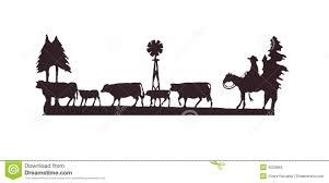 buckaroos cowboy on his horse herding cattle royalty free stock