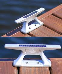 10 inch aluminum mooring cleat with solar light