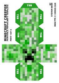 papercraft minecraft creeper calendar picture templates