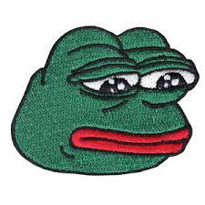 Meme Pepe - sad pepe the sad frog meme iron on embroidered applique patch
