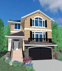 narrow lot house plans with basement two garage narrow house houses architecture