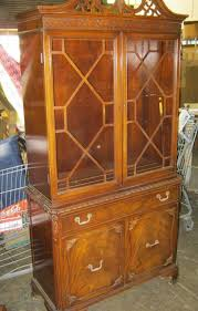 Wood Cabinet Glass Doors Vintage China Cabinet 1 Crica 1930 S 2 Glass Doors