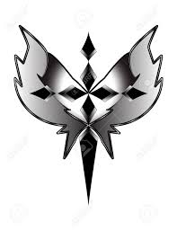 grayscale cross with wings stock photo picture and royalty free