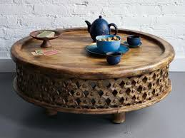 circle wood coffee table round coffee table of carved wood coffee tables
