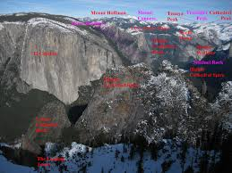 Yosemite Valley Map Yosemite Valley From Dewey Pt Labeled Photos Diagrams U0026 Topos