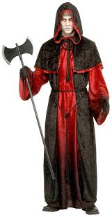 halloween devil costumes amazon com forum novelties men u0027s demon robe costume black red