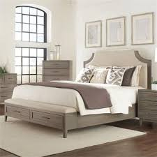 riverside bedroom furniture vogue upholstered bed with storage bench footboard i riverside furniture