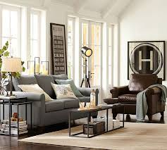Sofa And Armchair Set Cameron Roll Arm Leather Armchair Pottery Barn