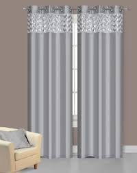 Grey And Silver Curtains Silver Curtains Pair Of Sparkle Silver Faux Silk Window