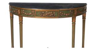 extremely fine pair italian neoclassical demilune console tables