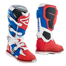 red motocross boots acerbis mx boots x rock red blue 2018 maciag offroad