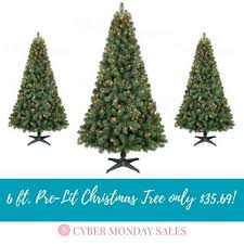 6ft pre lit christmas tree best black friday christmas tree deals cyber monday sales 2018