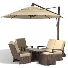 Big Patio Umbrellas by Sunbrella Sun Umbrella With Tilt Big Rattan Wicker Outdoor Lowes