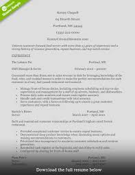 food service resume how to write a food service resume exles included