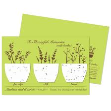 plantable wedding favors plantable flavorful memories herb favor plantable seed wedding