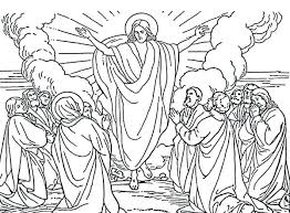 coloring page of jesus ascension coloring book jesus ascension coloring page disciples the ascension