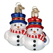 vintage snowman ornaments traditions