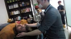this is china tic barbershop getting a haircut youtube