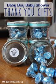 shower thank you gifts baby boy shower thank you gift around 1 00 each jelly jars jar