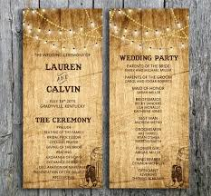 Country Wedding Programs Rustic Wedding Invitations Country Wedding Invite Western