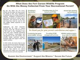 fort carson map other recreation information fort carson isportsman