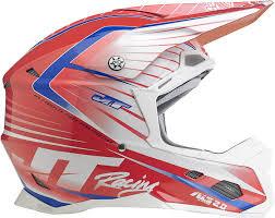 no fear motocross helmet jt racing asl 2 motocross mx enduro bike helmet white red blue
