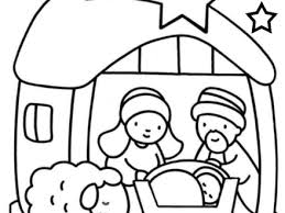 jesus birth coloring
