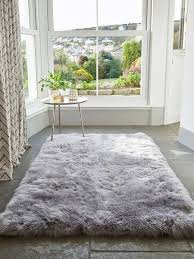 Wool Modern Rugs Home Decorators Collection Premium Flokati White 6 Ft X 9 Ft