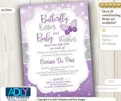 purple butterfly baby shower invitations purple butterfly baby