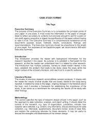 case summary template executive summary template example word