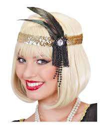 flapper headband flapper headband gold with black feather sequin charleston