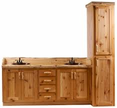 timberline log vanity and linen cabinet 18 bathroom vanity combo