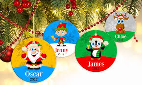personalised x ornament groupon goods