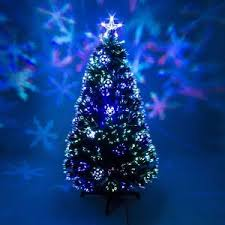 fibre optic green christmas tree xmas led lights baubles 2ft 3ft