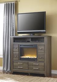 media chest with contemporary electric fireplace insert by