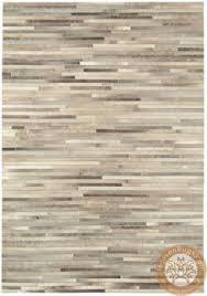 parquet cowhide rug 200 x 300cm in tonal grey made com roffo