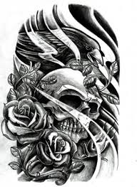 designs for laugh now cry later skull with roses black