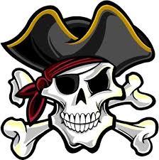 pirate skull crossbones decal set rapid