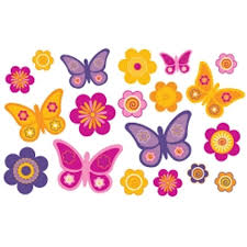 Butterfly Kids Room by Olee Kids Butterfly Deco Pack Peel And Stick