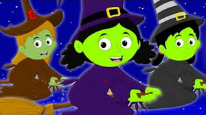 flying witches scary nursery rhymes halloween song kids