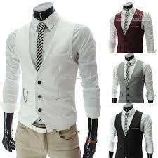 2018 new s vest casual slim mens vest white 2819 from facai2011