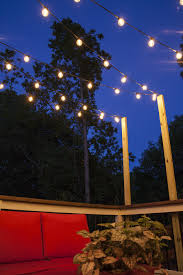 String Lights Patio Ideas by Hanging String Lights Outdoors Sacharoff Decoration