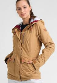 Womens Sports Clothes Sale Roxy Andie Ski Jacket Bone Brown Women Sale Sports Clothing
