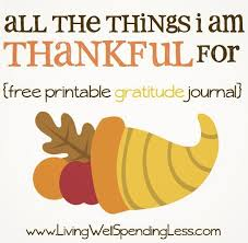all the things i m thankful for free printable gratitude journal